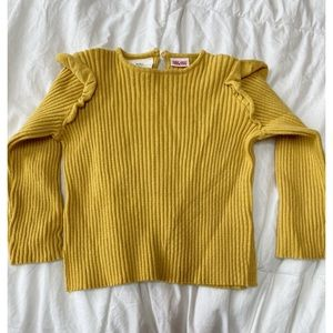 Zara Baby || Ribbed Knitted Sweater with Ruffles